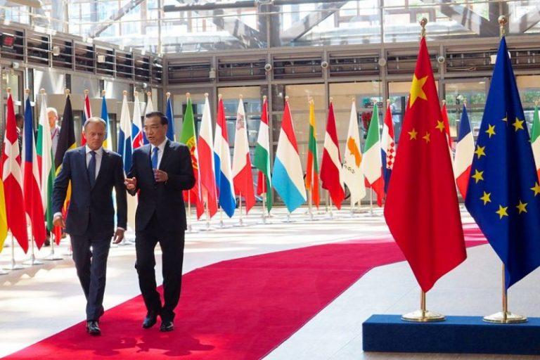 Li Keqiang and Donald Tusk